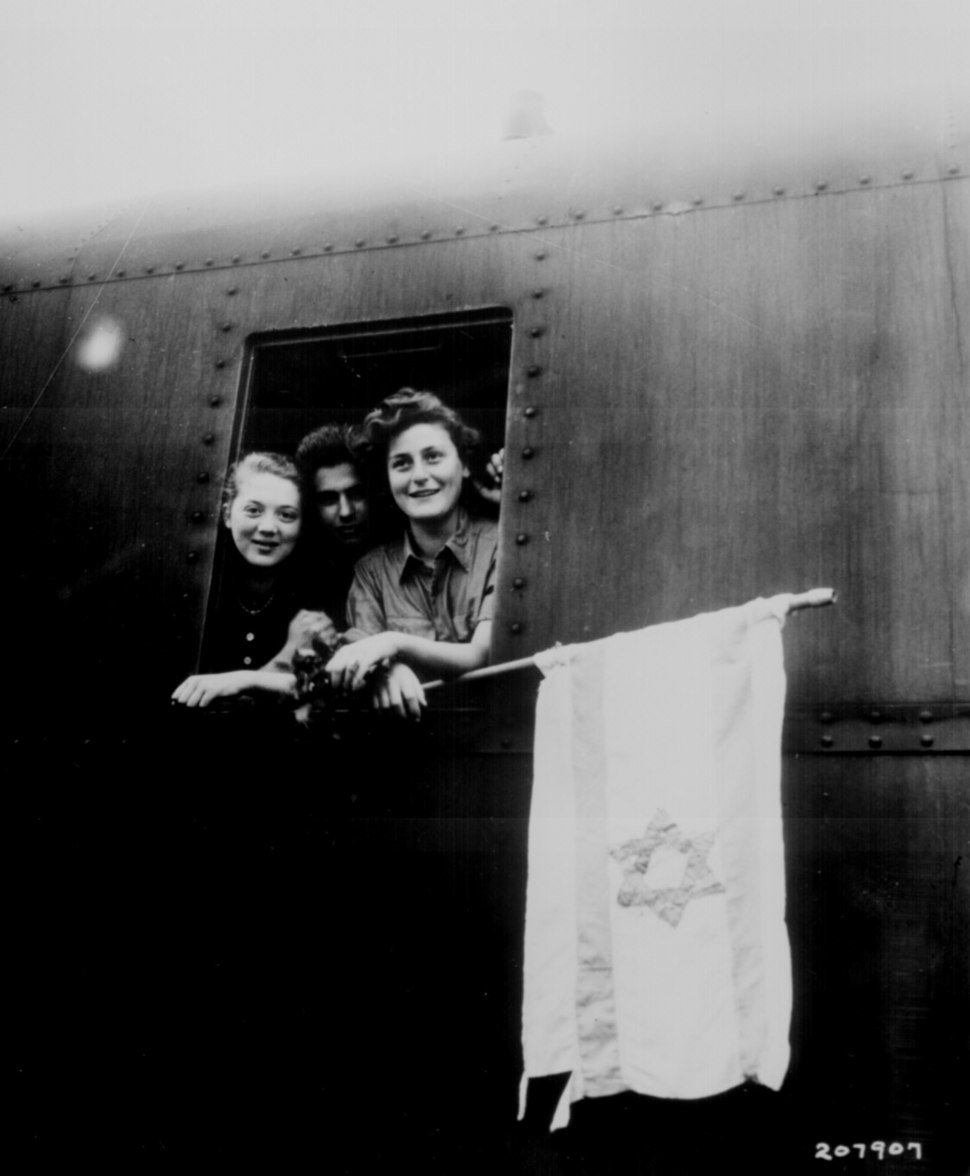 These Jewish children are on their way to Palestine after having been released from the Buchenwald Concentration Camp