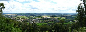 Tholey - Tholey seen from the Schaumberg