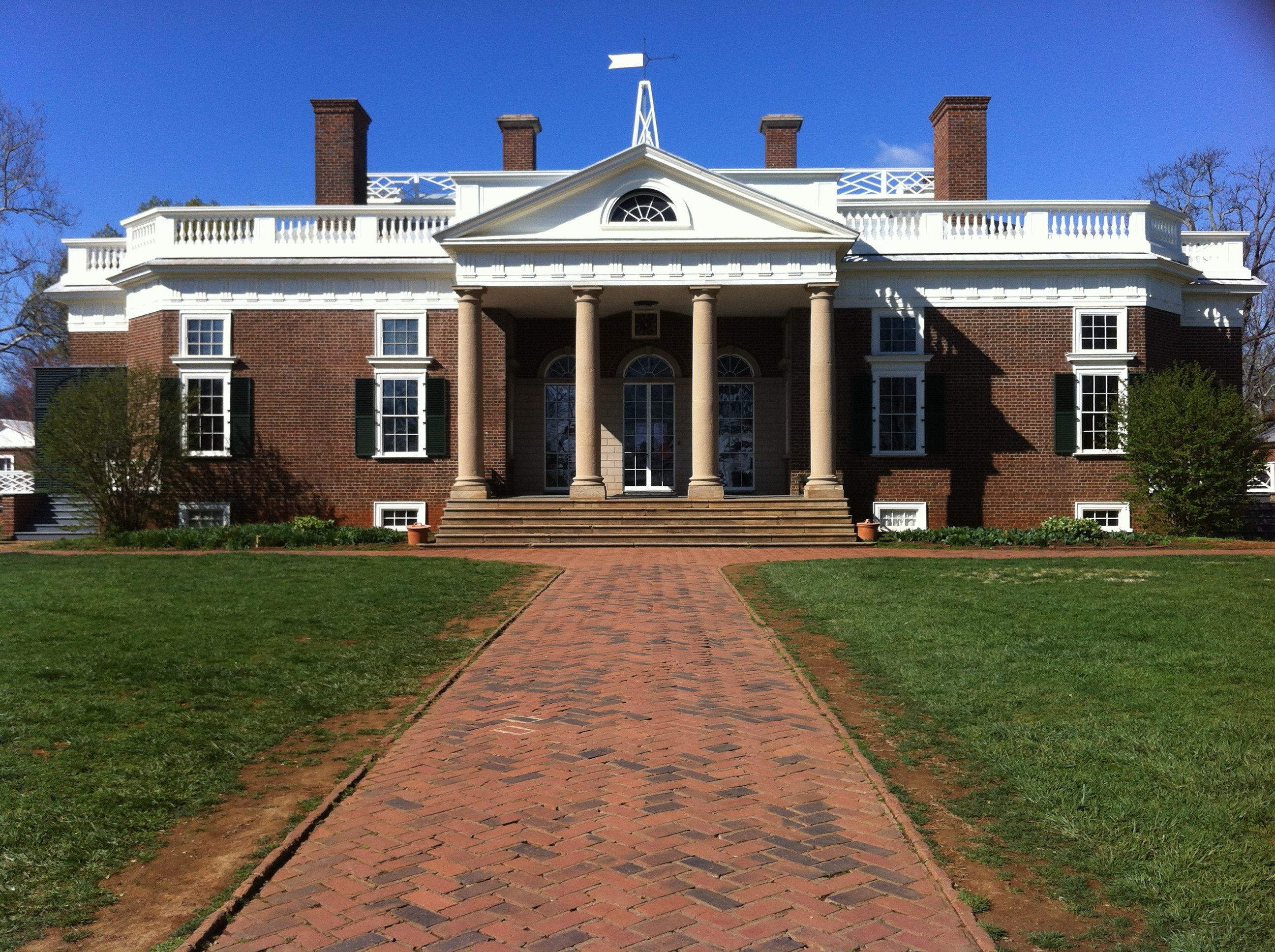 File Thomas Jefferson S House At Monticello From The Front Jpg