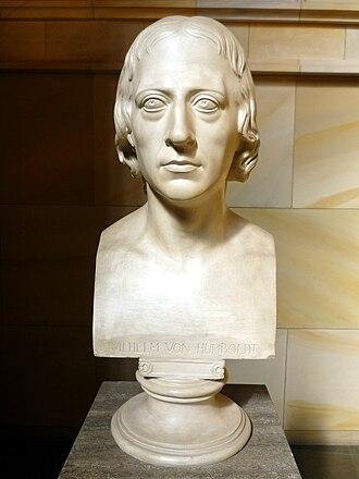 Wilhelm von Humboldt - Bust of Wilhelm von Humboldt, by Bertel Thorvaldsen,  1808.