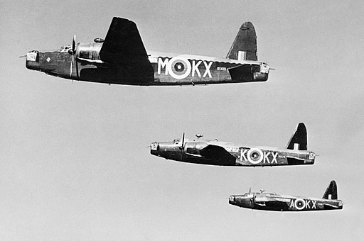 Three Wellington Mk ICs of No. 311 (Czechoslovak) Squadron RAF based at East Wretham, Norfolk, March 1941. CH2265