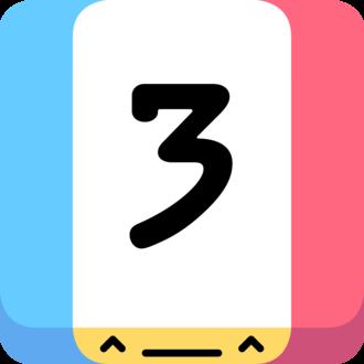 Threes - App icon