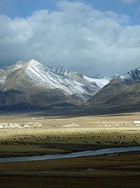 Snow mountains in Tibet
