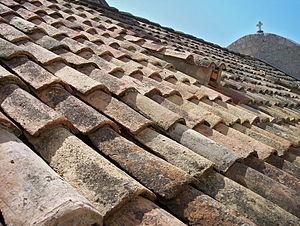 Tiled roof in Dubrovnik (Croatia)