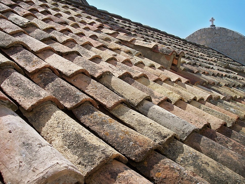 Tiled roof in Dubrovnik-edit