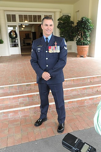 Western Australia Police - Tim Britten CV, displaying a number of Australian and Western Australia Police Force honours