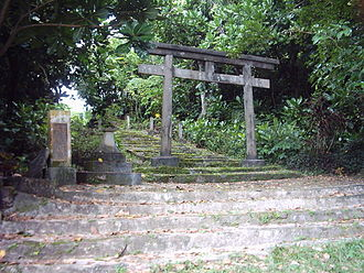 Tinian - Tinian Shinto shrine.