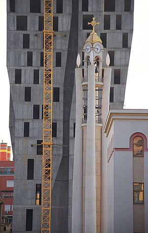 Resurrection Cathedral, Tirana - Image: Tirana Church Tower