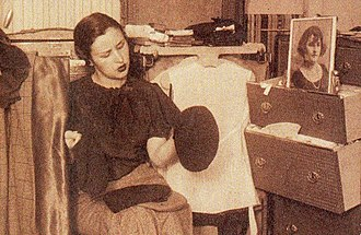 Tita Merello - Tita Merello working in the wardrobe room, c. 1930.