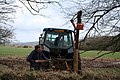 Tiverton, fencing operation near Bampton Down - geograph.org.uk - 144388.jpg