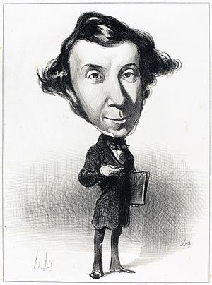 Alexis de Tocqueville - Caricature by Honoré Daumier, 1849.