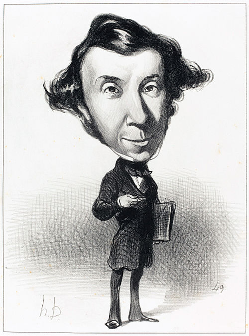 1849 caricature by Honore Daumier Tocqueville by Daumier.jpg