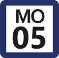 Tokyo Monorail MO-05 station number.png