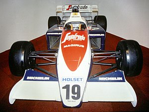 Toleman TG184 - The Toleman TG184 as raced by Stefan Johansson at the end of the 1984 season