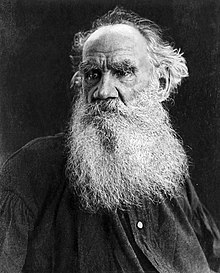 Leo Tolstoy in his later years. Early 20th century.