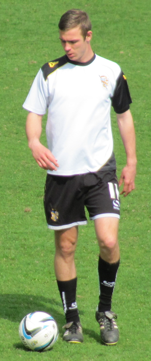 Port Vale F.C. - Striker Tom Pope's goals helped the club to win promotion in 2012–13.