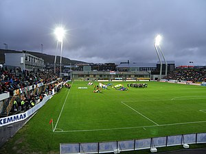 Torsvollur Football Venue in Torshavn Faroe Islands.JPG