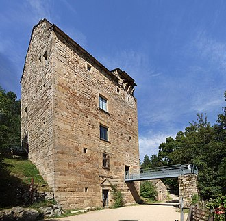 Allenc - The tower of Villaret, in Allenc