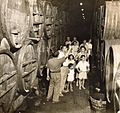 Tour of Zichron Yaakov winery - Israel - 1945.jpg