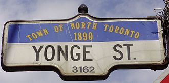 North Toronto - Street sign designed in honour of North Toronto