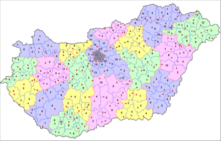 the current 174 administrative districts jrs of hungary