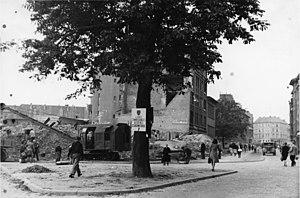 Schlichtingstraße, Ecke Kronshagener Weg 1949
