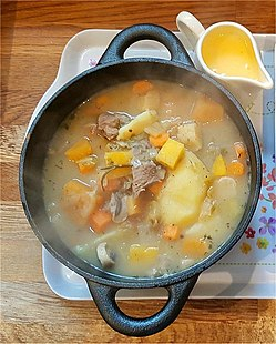 In Ireland, Irish Stew is made with Lamb