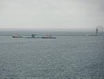 Trafalgar-class submarine and Plymouth Breakwater.jpg