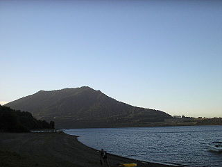 Tralcán mountain in Chile
