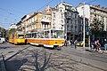 Tram in Sofia near Central mineral bath 2012 PD 051.jpg