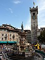 Trento-fountain of Neptune and Torre Civica from southwest.jpg