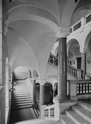 University of Music and Theatre Leipzig - Staircase at the Grassistraße