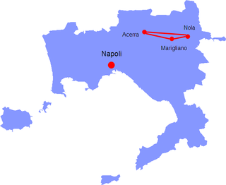 area in the Italian province of Campania comprising the municipalities of Acerra, Nola and Marigliano