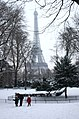 Trocadero in the snow (8398588541).jpg