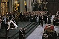 Troonswisseling 30 april inhuldiging in Nieuwe Kerk minder ruim overzicht en, Bestanddeelnr 253-8192.jpg