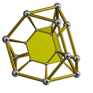 Truncated tetrahedral prism - Image: Truncated tetrahedral prism