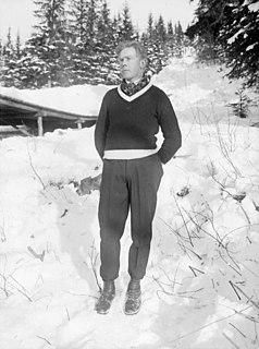 Trygve Brodahl Norwegian cross country skier