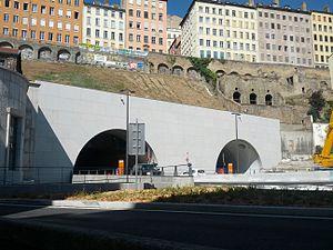 Tunnel de la Croix-Rousse - East entrance, Rhone side.