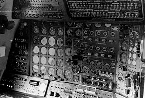 Tupolev Tu-126, flight engineer's panel.jpg
