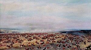 Battle of Tuyutí - Painting by Cándido López