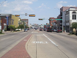 Terrell, Texas - U.S. Highway 80 is the main street of Terrell