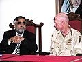 U.S Army Joint Task Force 76 having dinner with Yusuf Pashtun 07-12-2004.jpg