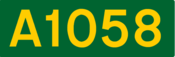 A1058 road shield