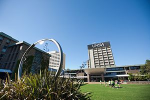 University of New South Wales - Library Lawn, upper campus