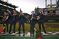 USAF Reserve Band Dixie Ensemble performs at Rangers at Indians 2001-04-28.JPEG
