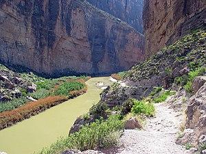 Cañón de Santa Elena -  The Rio Grande running through Santa Elena Canyon.