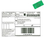 USPS First Class Pkg Intl USA-D with Customs Declaration CN 22, delivered as letter by Deutsche Post.jpg