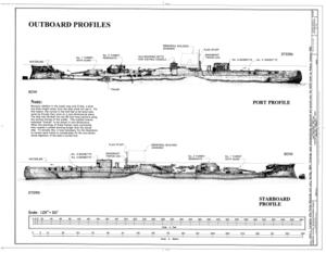 USS Arizona, Submerged off Ford Island, Pearl Harbor, Honolulu, Honolulu County, HI HAER HI,2-HONLU,31- (sheet 4 of 4).png
