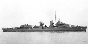 USS Charles J. Badger (DD-657) in July 1943