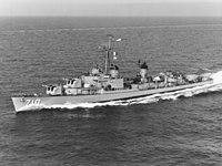 USS Gearing (DD-710) in the Mediterranean Sea in 1960.jpg